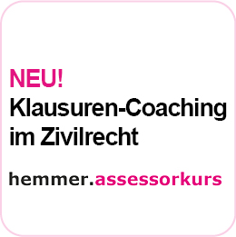 NEU! Assessor-Klausuren-Coaching im Zivilrecht ab 06.10.2021